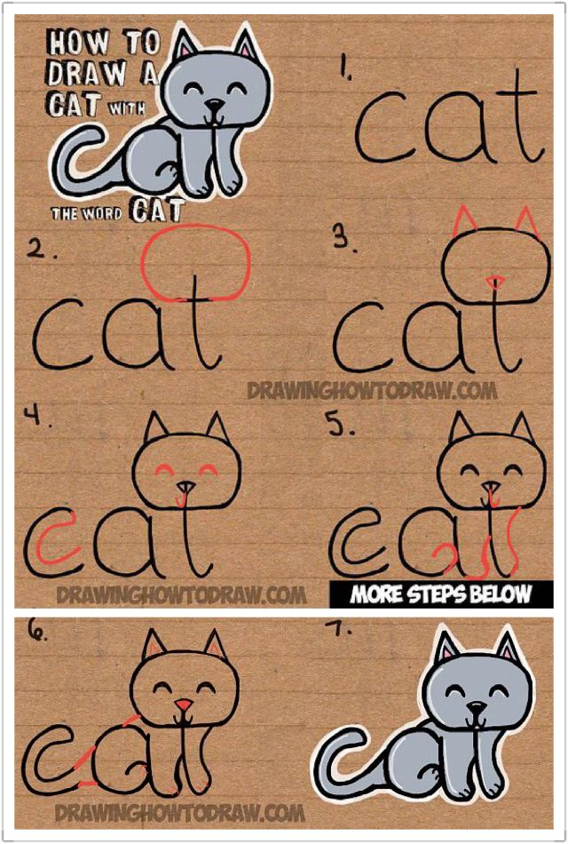 Cat From Cat Drawings Doodles Paintings And More Pinterest