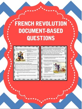 French Revolution Document Based Questions Worksheet DBQ ...