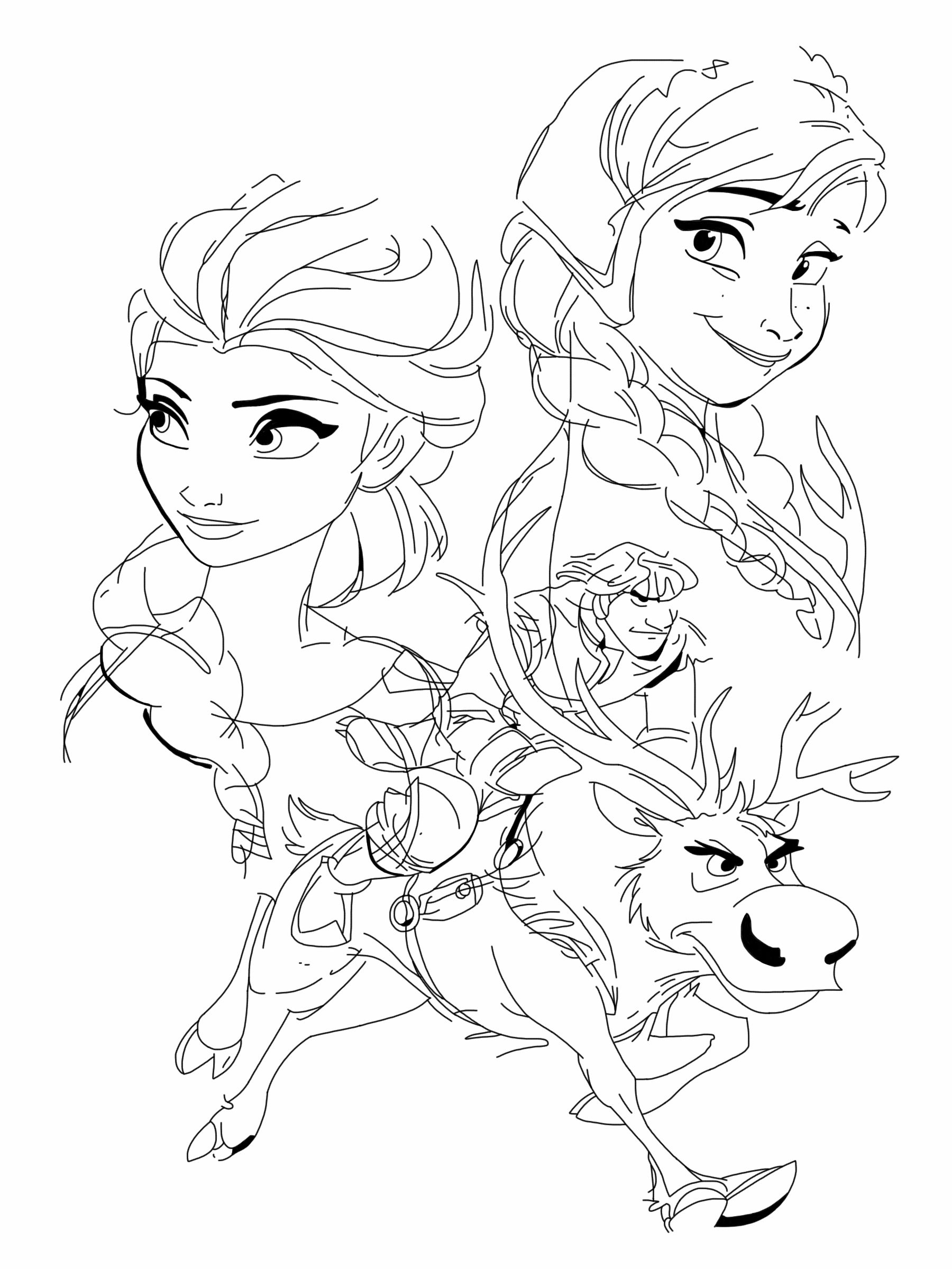 Anna elsa kristoff and sven by spartandragon12 for Sven coloring pages