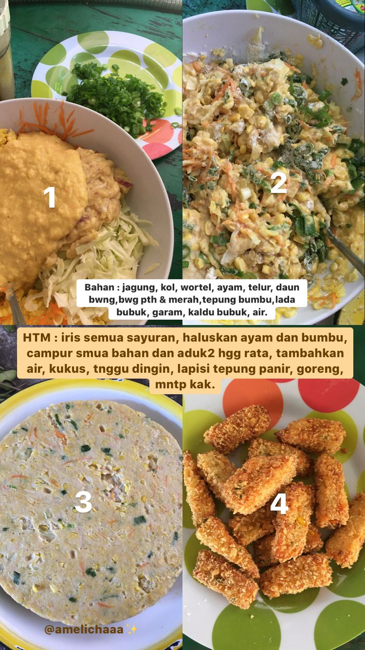 Resep Nugget Ayam Jagung Makanan Sayuran Wortel