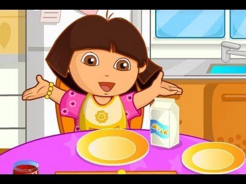دورا الصغيرة طبخ فطور دورا العاب كرتون للاطفال كاملة Cartoon Character Fictional Characters