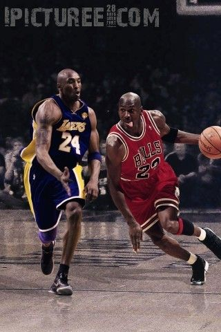 Kobe Bryant Vs Michael Jordan Iphone 5 Wallpaper