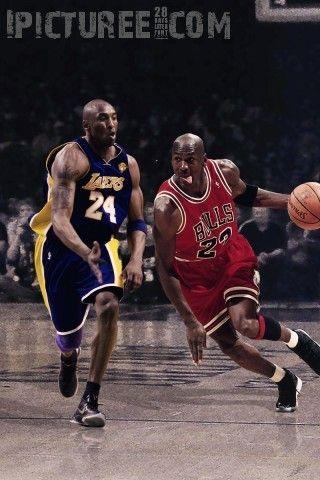 Kobe Bryant Vs Michael Jordan Iphone 5 Wallpaper Fave Sports