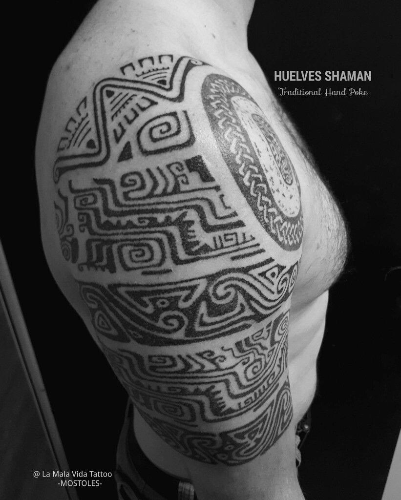 Tatuaje tribal Madrid precolombino #tribal #Madrid #precolombino