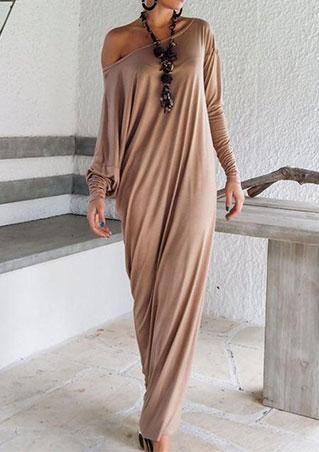Long Boho Dress Without Necklace