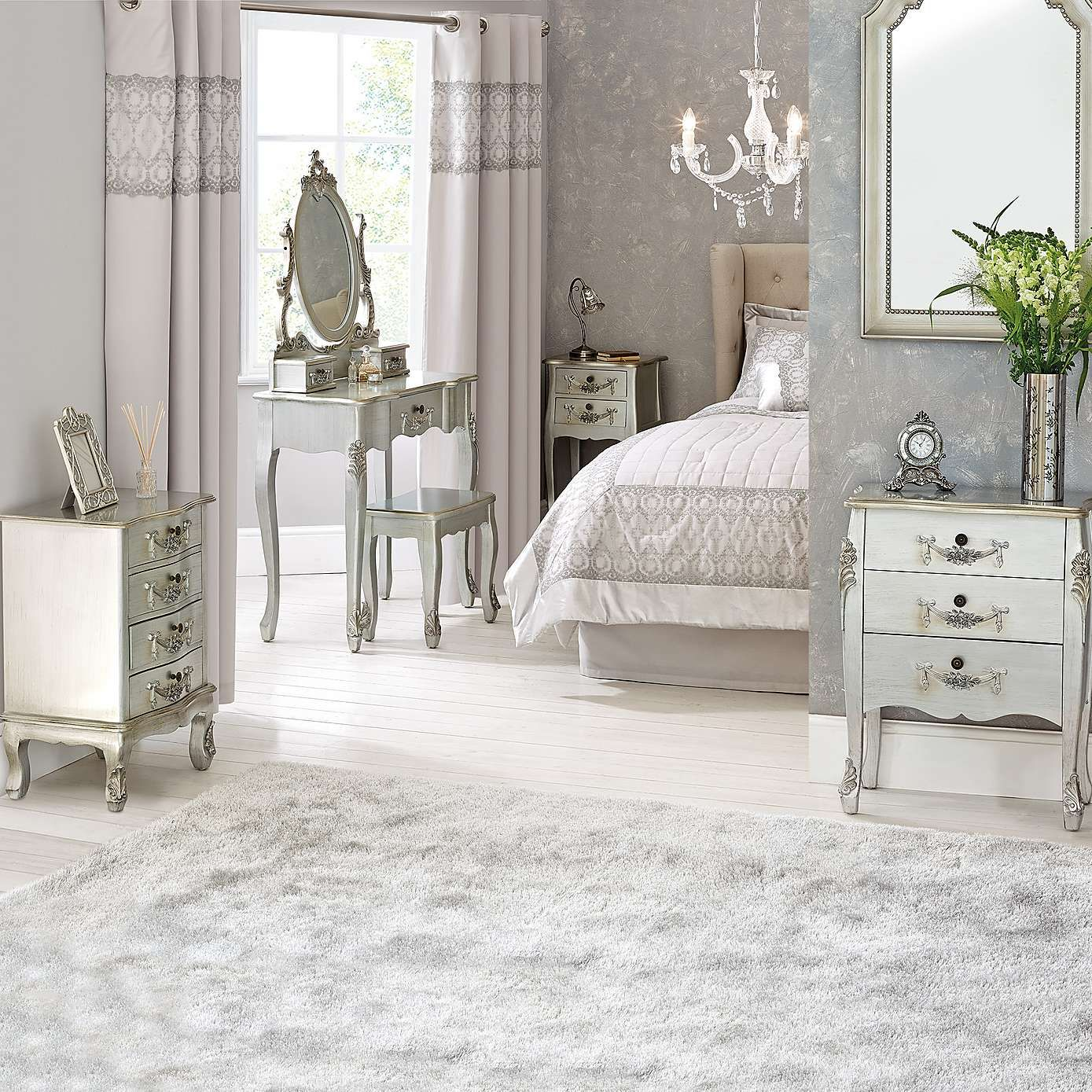 Toulouse Silver Double Wardrobe Silver Bedroom Bedrooms And - Toulouse bedroom furniture white