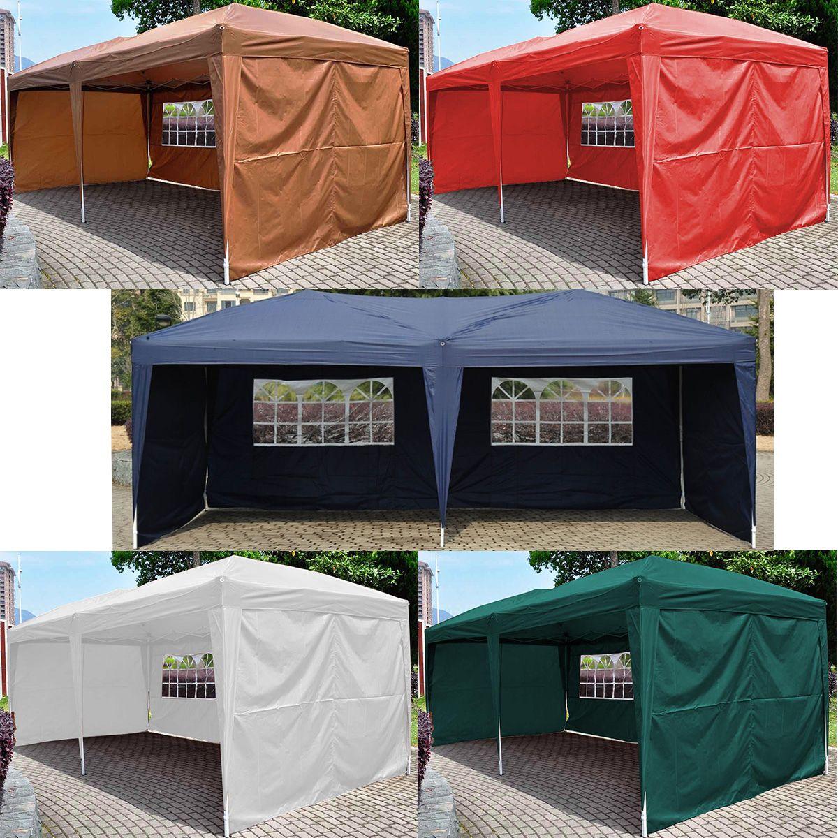 EZ POP UP Wedding Party Tent 10u0027X20u0027 Folding Gazebo Beach Canopy W/ & EZ POP UP Wedding Party Tent 10u0027X20u0027 Folding Gazebo Beach Canopy W ...