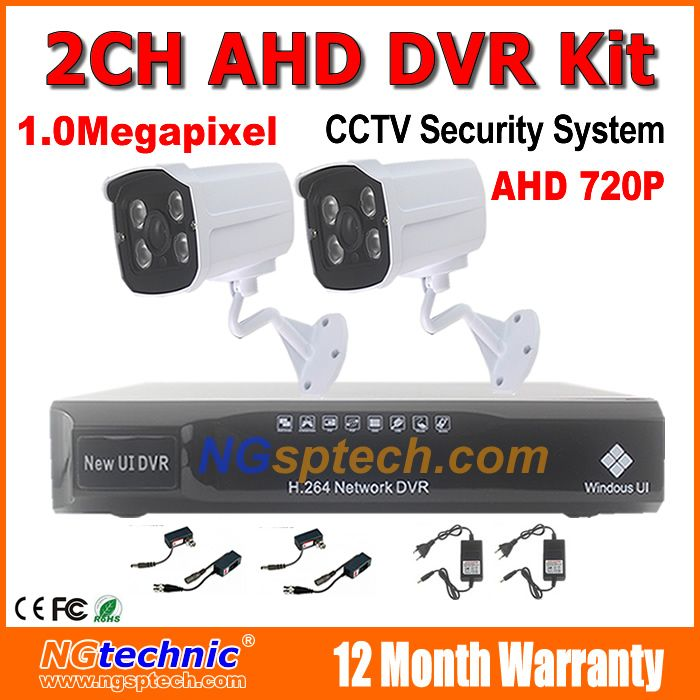 $173.19 (Buy here: http://appdeal.ru/dvcp ) 4 Channel AHD DVR with bracket IR Weatherproof Surveillance day night vision 720p security AHD Cameras Kits Home Security System for just $173.19