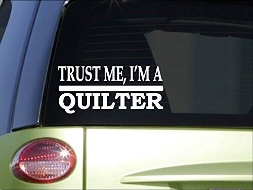 Trust me quilter h609 8 inch sticker decal quilting quilt patterns