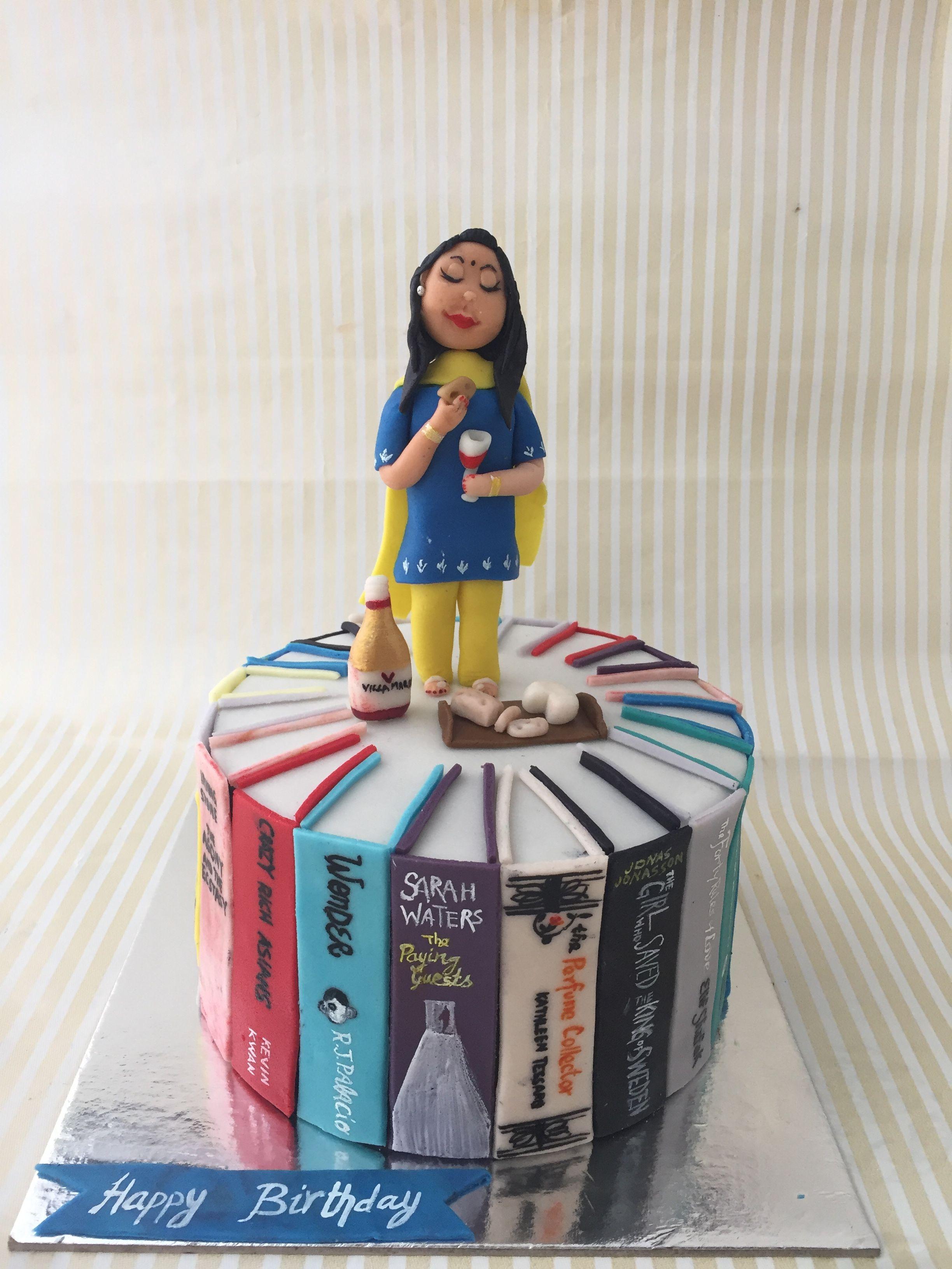 Books cake for a teacher teacher cakes book cake