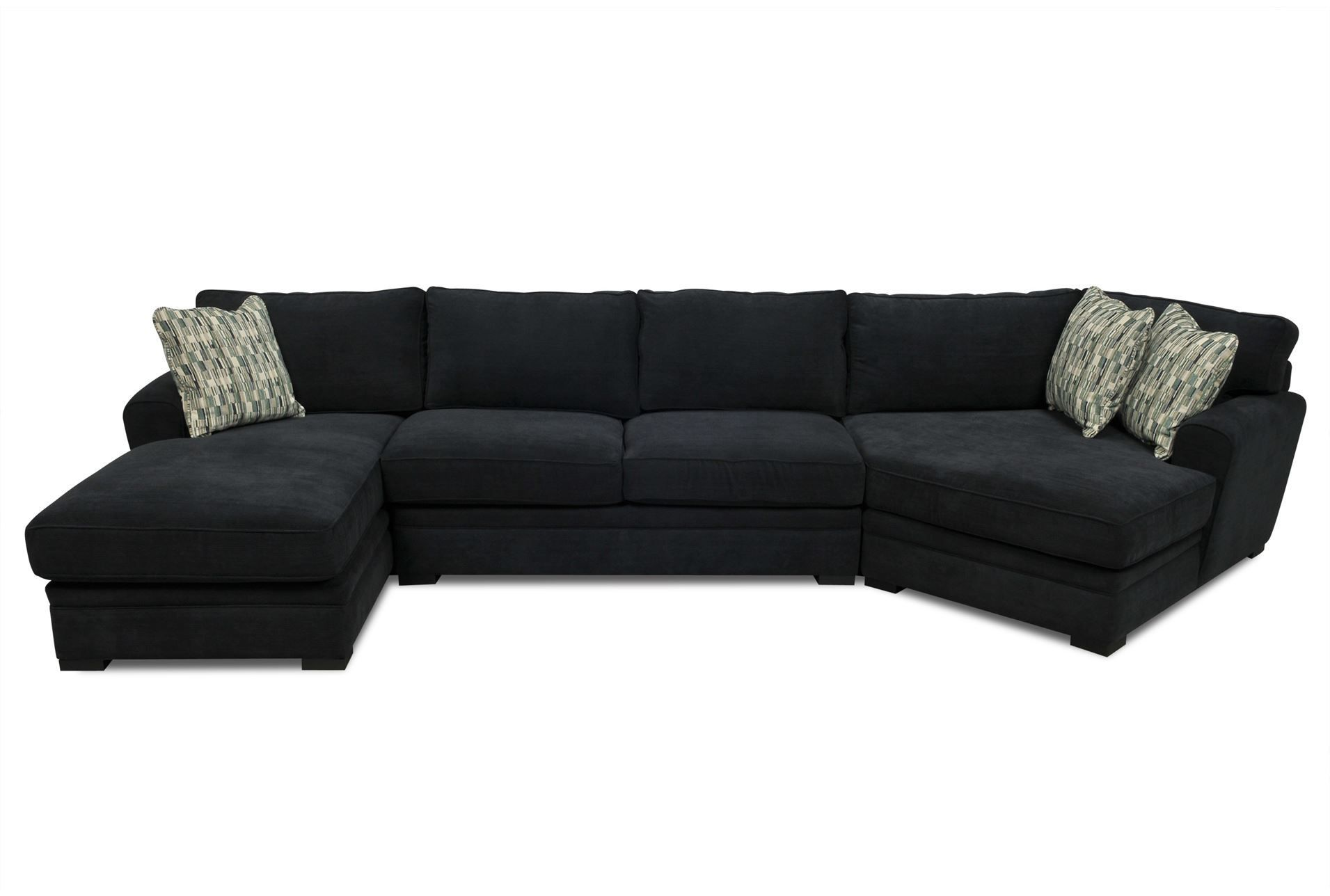 Aaron 3 Piece Sectional Large View 121 Dimensions 166 W X 67 D 38 H Sku 58928 1 295