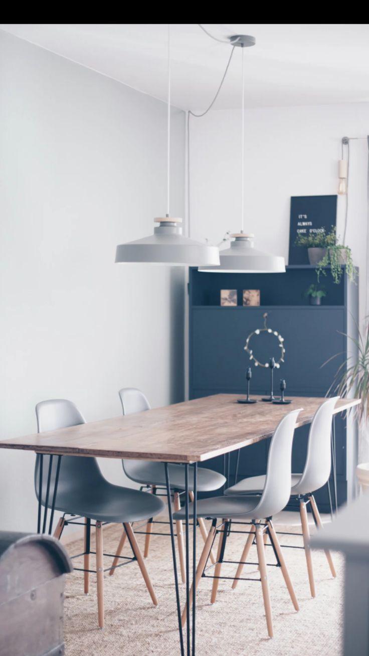 Interior: #DIY Esstisch mit Hairpin legs