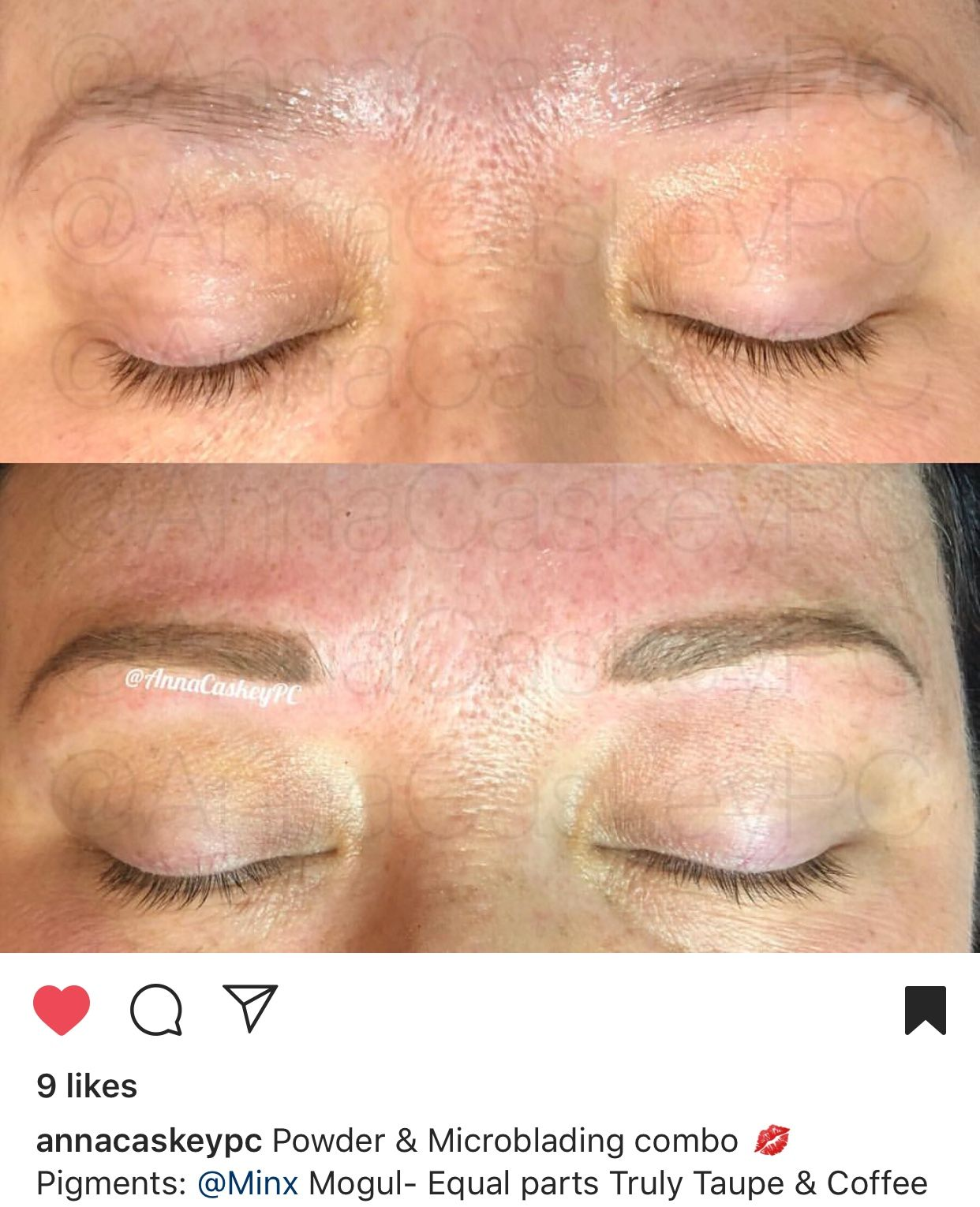 Combo technique and combo colors make beautiful brows