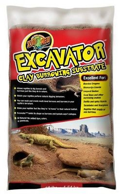 Zoo Med Excavator Clay Burrowing Substrate, 10 Pounds, New, Free Shipping