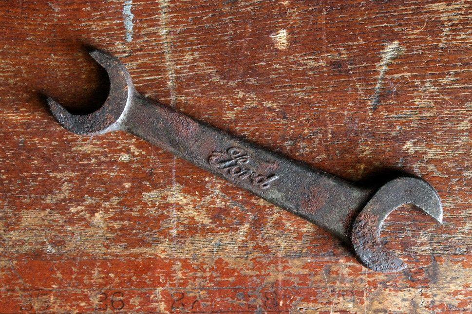 Vintage Antique Ford Motors Model T Open End Box End Wrench T 1917