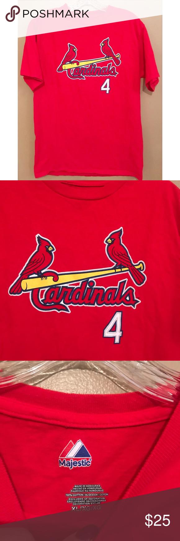 top fashion d5f0e dbbc3 St. Louis Cardinals MLB Yadier Molina Tee XL -Like new ...