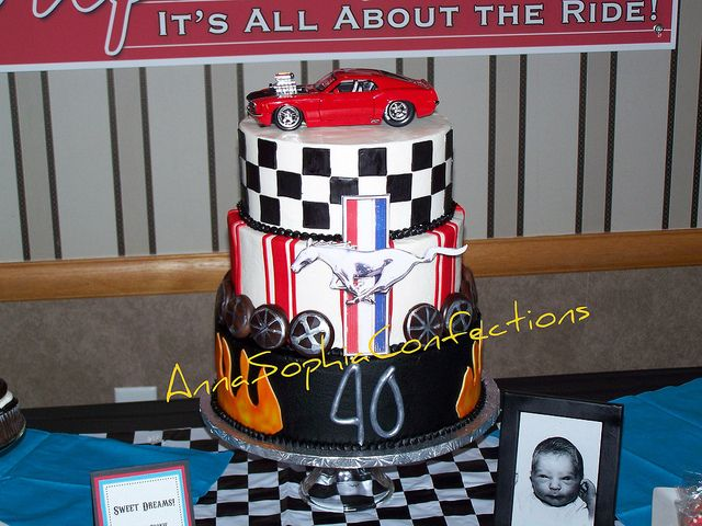40th Birthday cake Mustang Cobra cake Mustang cobra 40 birthday
