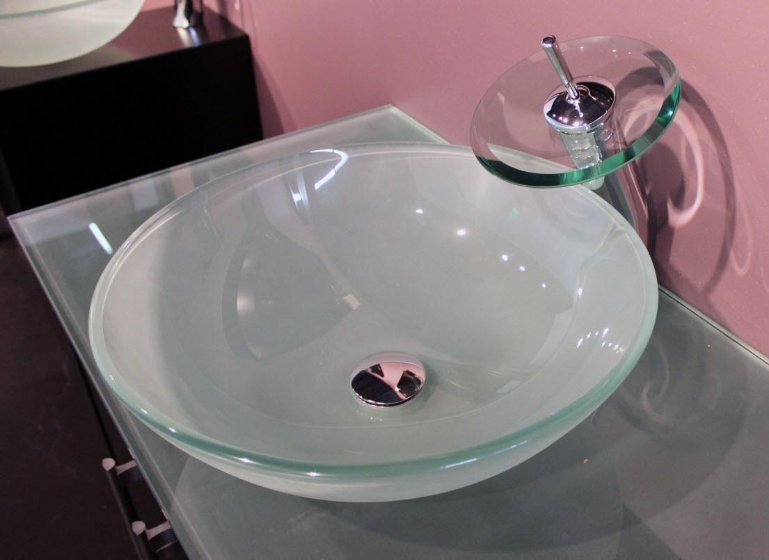 Frosted Green Glass Vessel Sink Sink Glass Vessel Glass Vessel Sinks