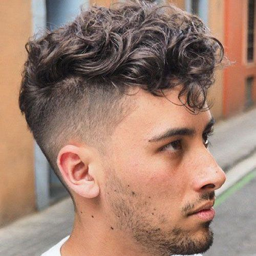Curly Hair Undercut 2019 Guide Curly Hairstyles For Men Messy