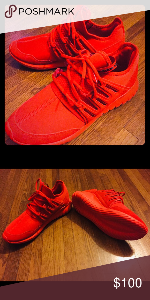 quality design 2d2a2 8bd94 Men's Adidas red tubular Radial Originals *only worn once ...