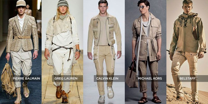 SS16 Men's Fashion Safari Style Trend