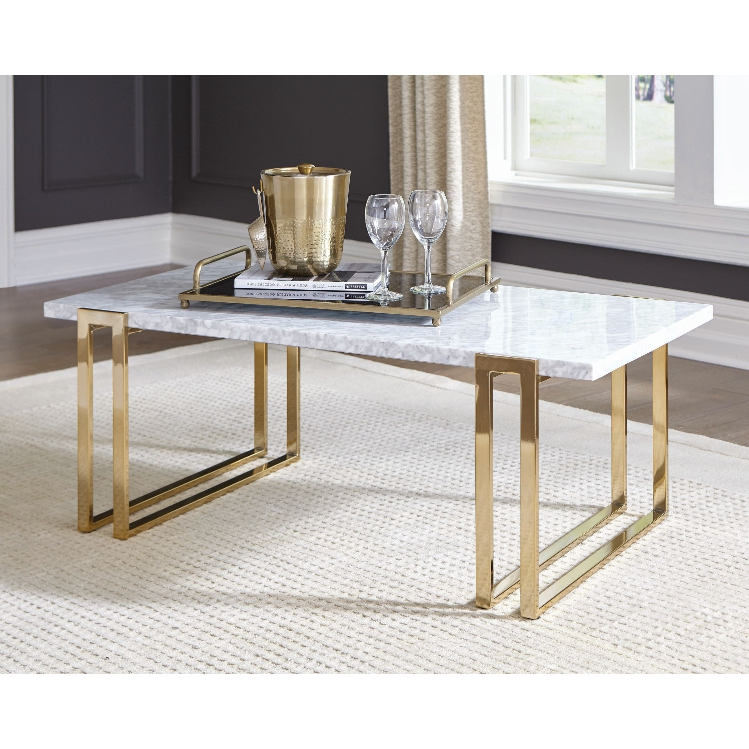 Overstock Com Online Shopping Bedding Furniture Electronics Jewelry Clothing More Coffee Table Rectangle Gold Coffee Table Coffee Table [ 2400 x 2400 Pixel ]