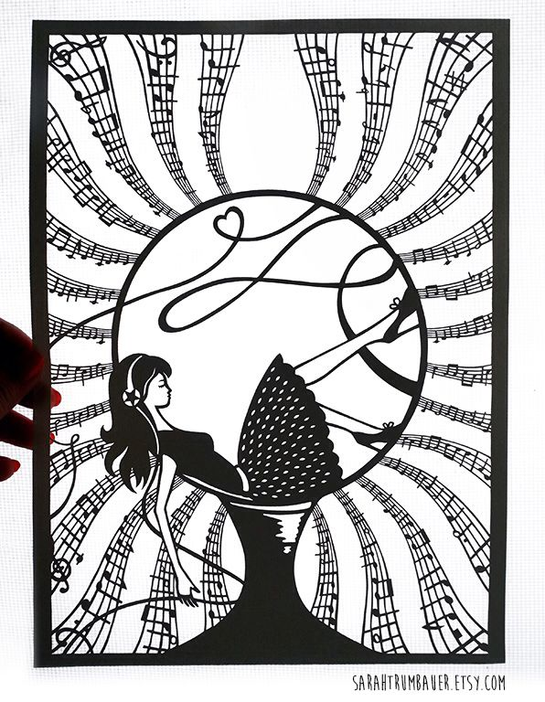 Papercut Illustration by Sarah Trumbauer Prints available for purchase on Etsy!
