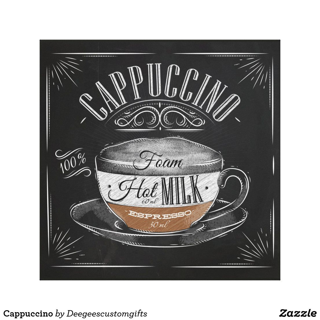 Cappuccino Canvas Print Zazzle Com In 2020 Cappuccino Coffee Fashion Monday Humor