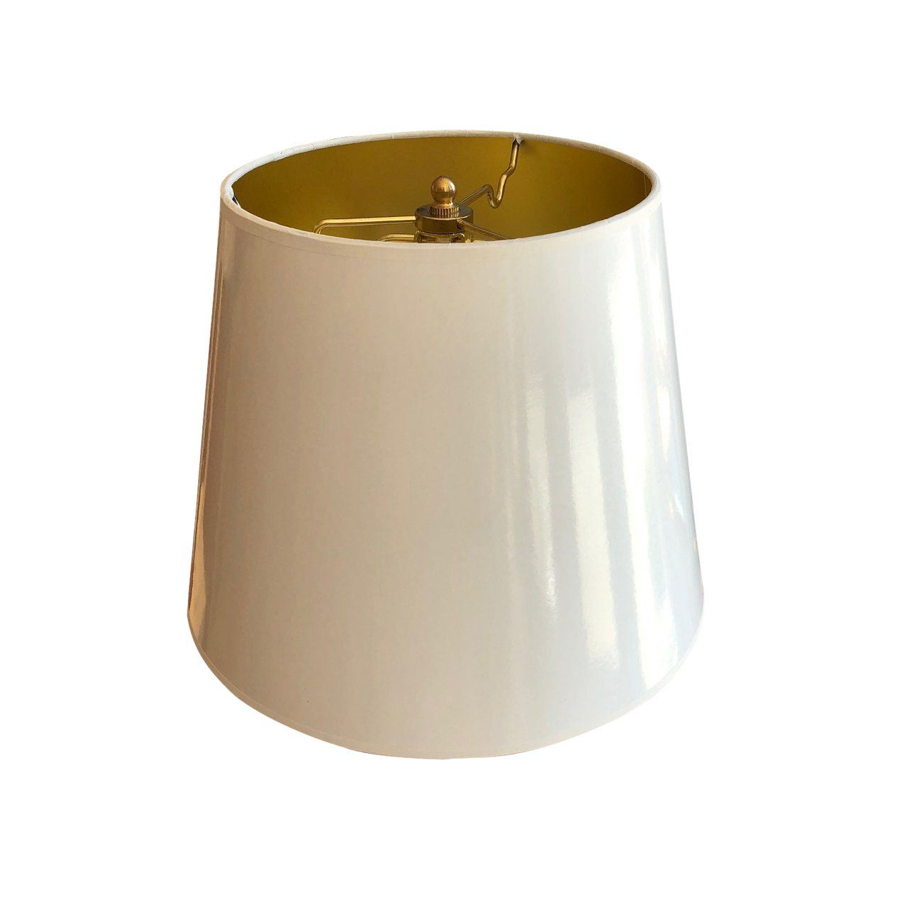White Lacquer Lampshades With Gold Lining Lampshades Gold Line Paint Shades