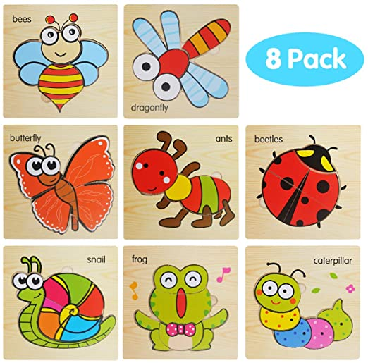 Amazon Com Wooden Jigsaw Puzzles For Toddlers 2 3 4 Years Old Animals Preschool Puzzles For Kids Children L Puzzles For Kids Preschool Puzzles Kids Learning