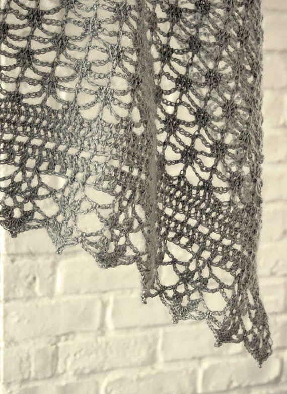 Crochet pattern Pdf- lacy crochet shawl | marina | Pinterest ...