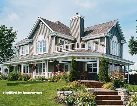Plan 21558DR: Wonderful Wrap-Around Porch | Porch, Wraps and Balconies
