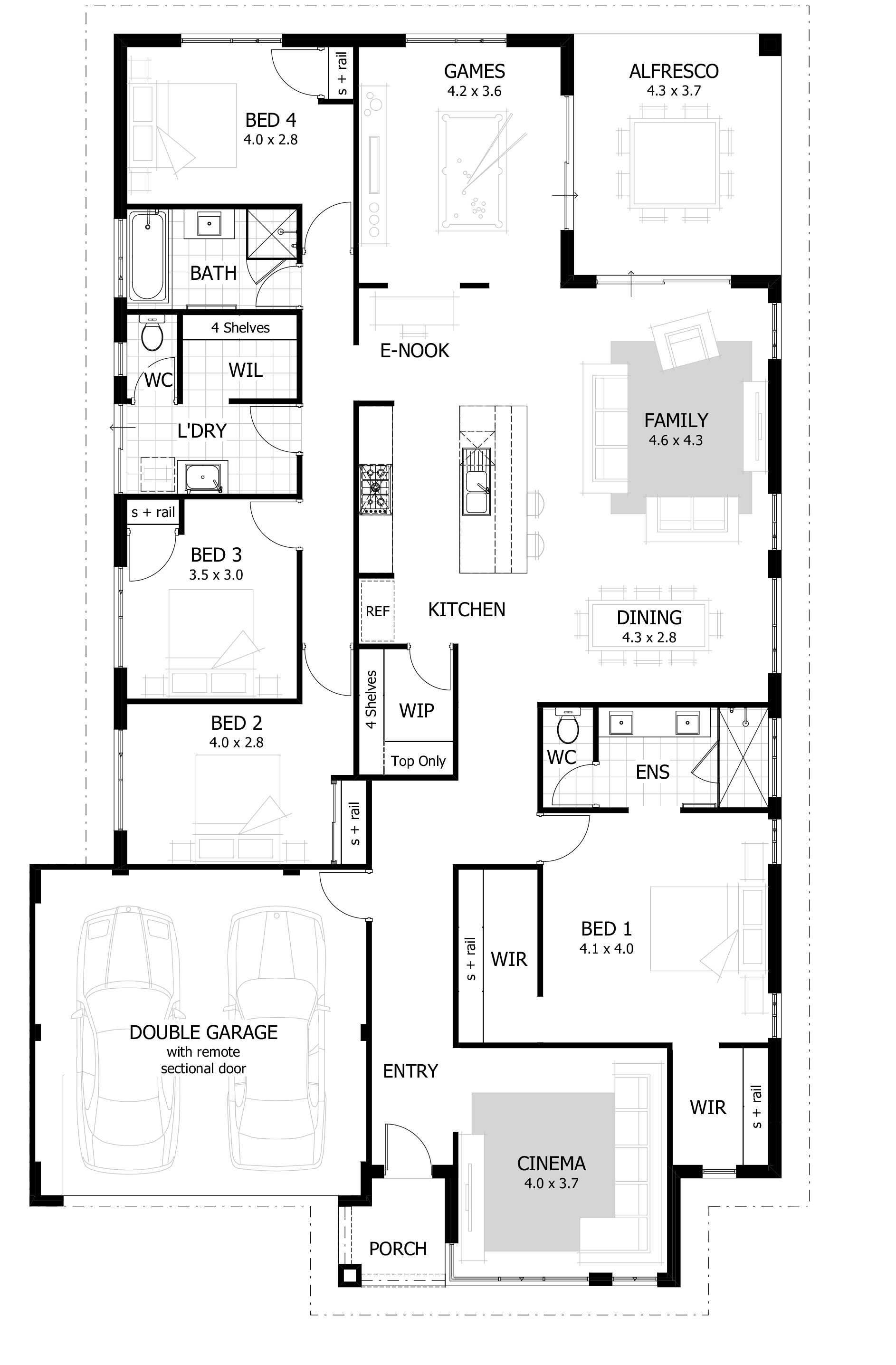 Plan 44040td For The Large Family In 2020 Colonial House Plans Floor Plans House Floor Plans