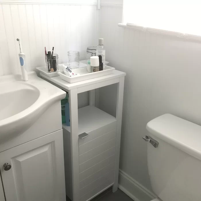 Rebrilliant Gunn Single Door Floor 15 75 W X 35 5 H Free Standing Cabinet Reviews Wayfair Easy Bathroom Updates Free Standing Cabinets Single Doors