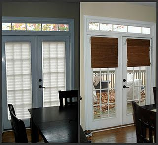 Bamboo Shades On Patio Doors   Want These Throughout The House