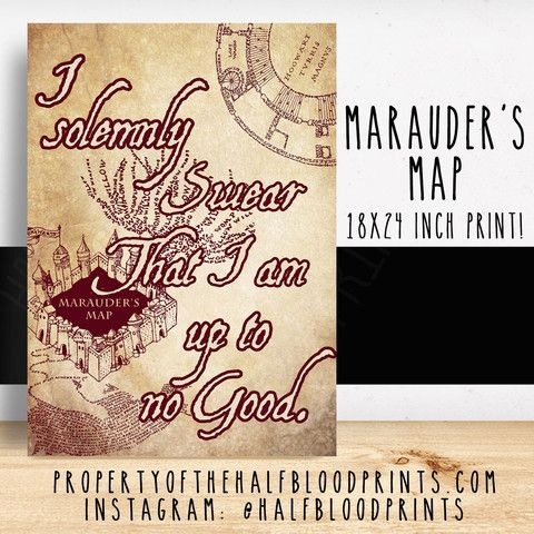 I SOLEMNLY SWEAR - Marauders Map Poster   Want   Pinterest   Harry ...