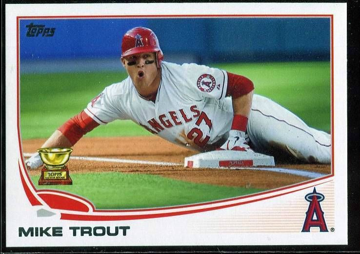 2013 topps 27 mike trout card angels mike trout