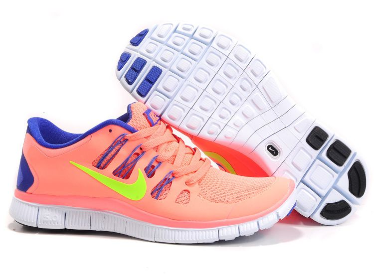 Nike Free 5.0 2014 Womens Pink Blue Running Shoes