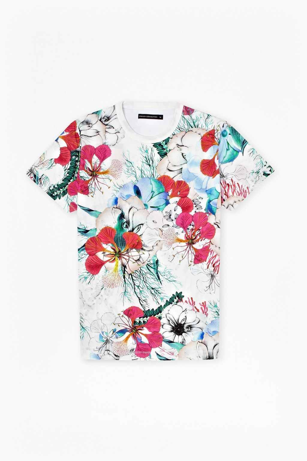 Floral Reef T-Shirt - Mens T-Shirts - French Connection