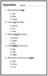 Free Quizzes Antonyms and Synonyms  | Teaching | Free