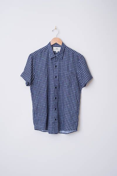 Linen Checked Shirt