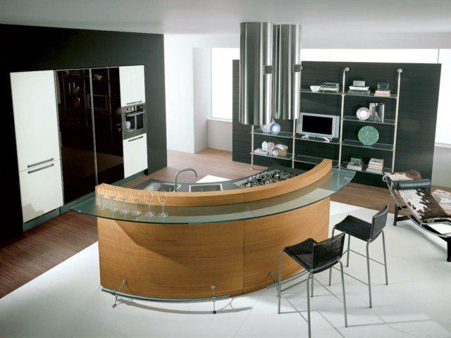 125 exemples de cuisines équipées ultra modernes u2013 partie 2 - plan de cuisine moderne avec ilot central