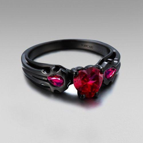 Most popular wedding rings Gothic style wedding ring sets Skull