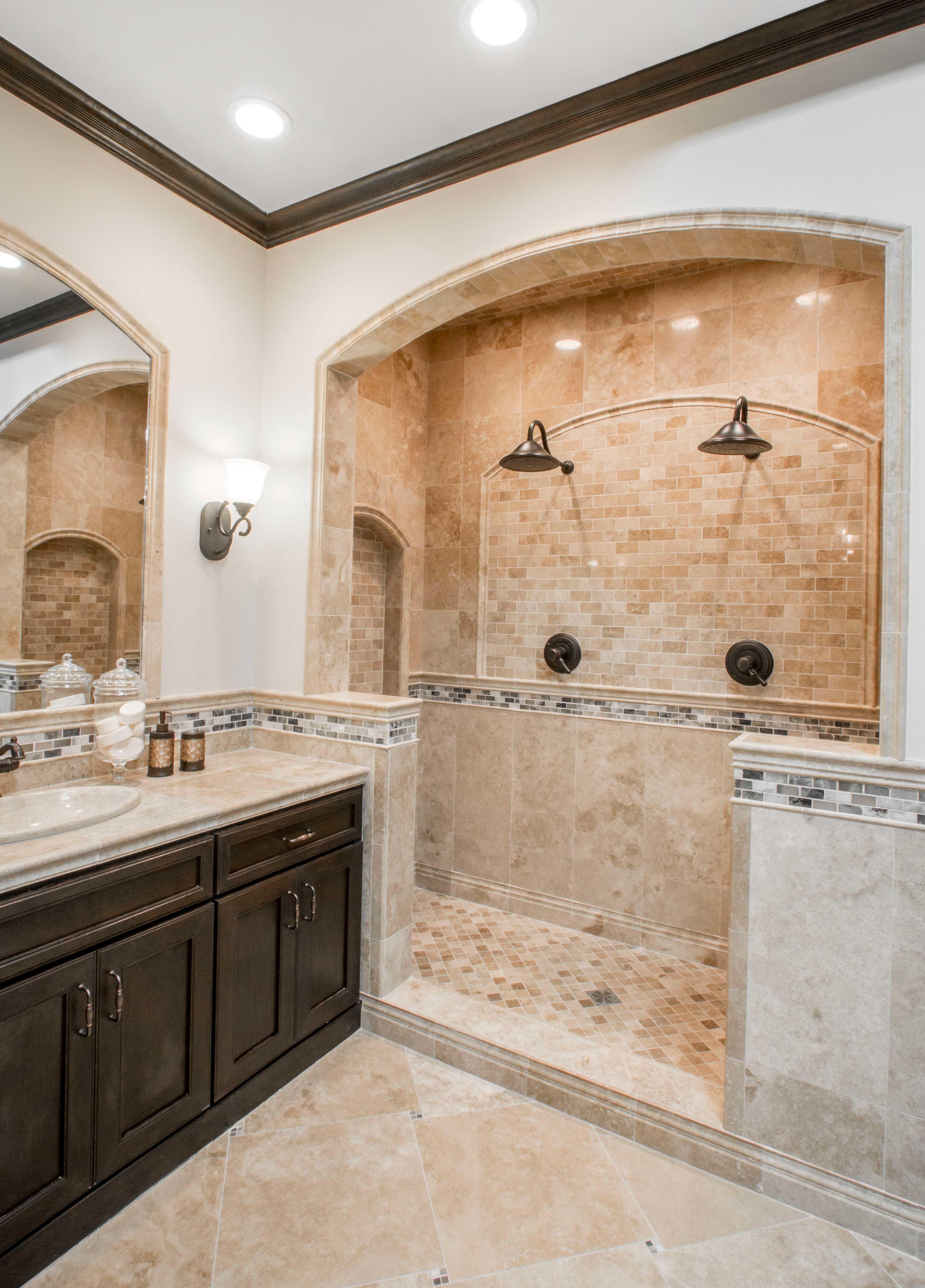 Sandy brown bathroom tile - Bucak Light Walnut Polished ...