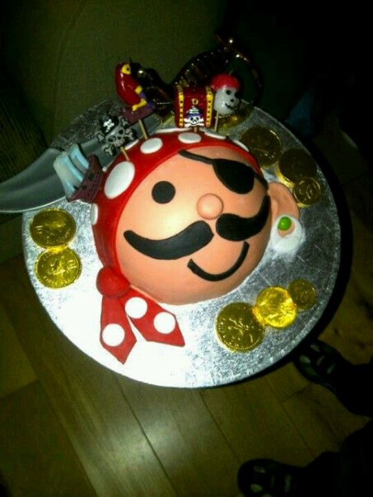 Pirate Face Birthday Cake Cake Creations Pinterest Pirate Face
