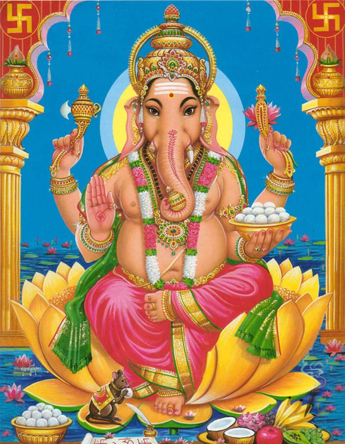 Hindu God GaneshGanesh God of the intellect and the remover of ...
