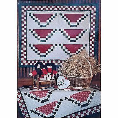 Watermelon Quilt Pattern Vintage 1986 Strip Pieced 30 x 37 Mumms the Word C1451