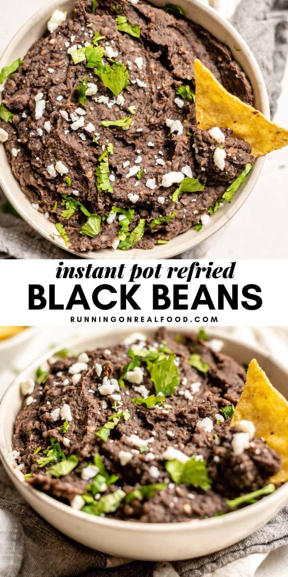 Instant Pot Refried Black Beans Recipe Bean Recipes Refried Beans Recipe Recipes