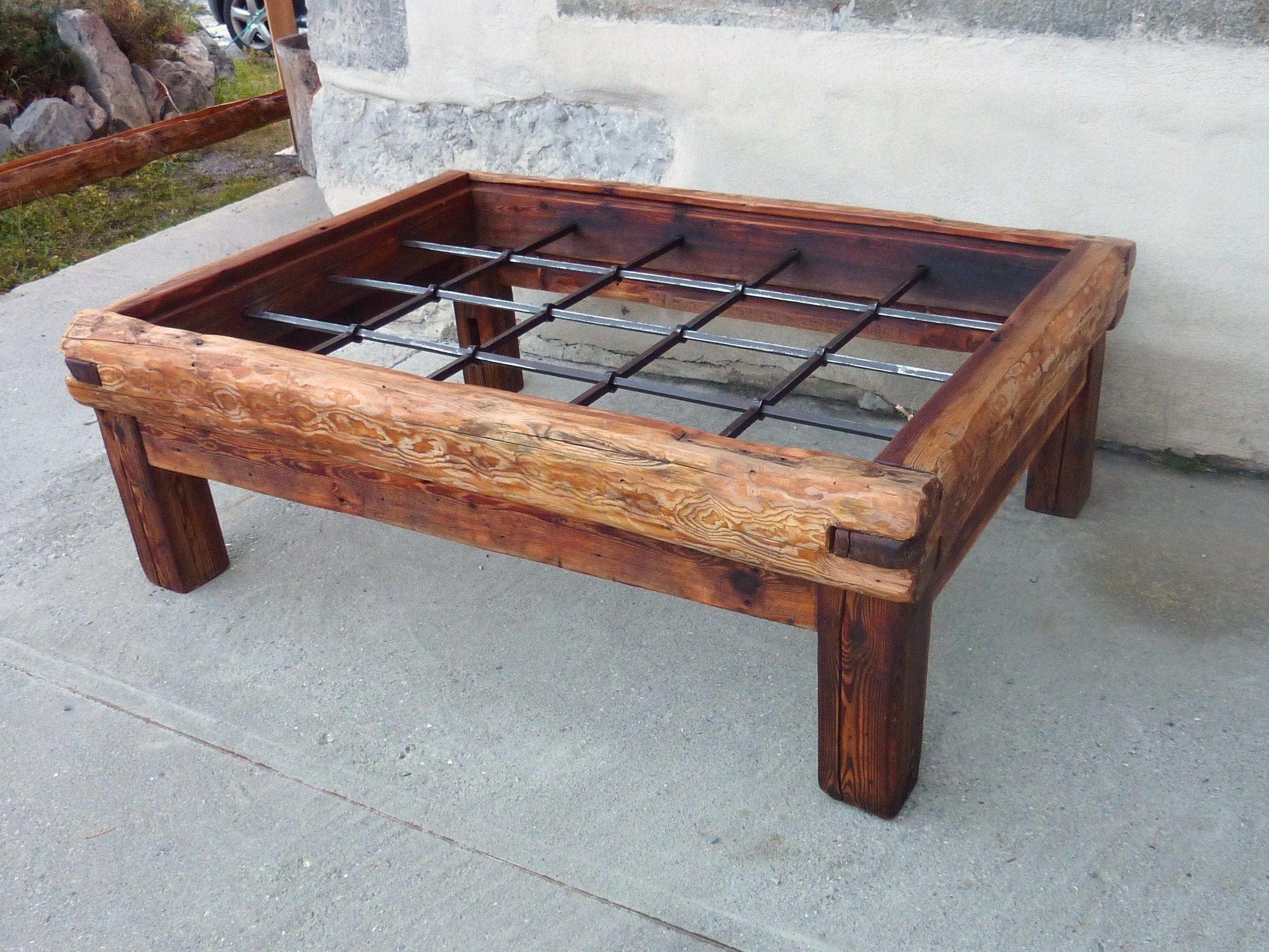 table basse en vieux m l ze et plateau en verre plateau en verre m l ze et table basse. Black Bedroom Furniture Sets. Home Design Ideas