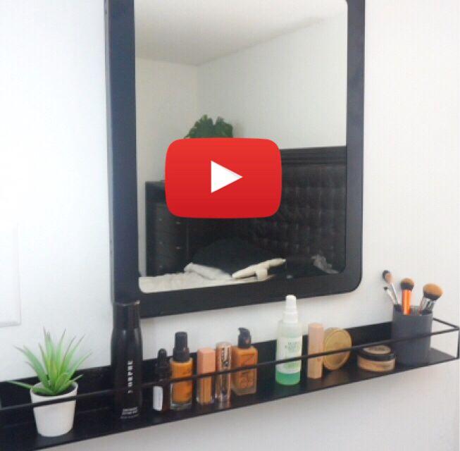 Ikea sammanhang shelf vanity shelf organization hack